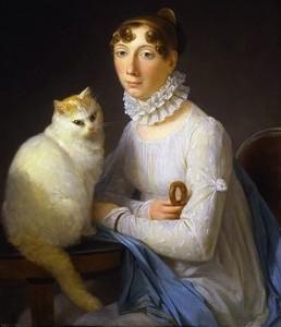 La dame avec son chat, Marguerite Gérard