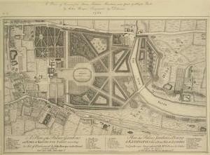 Plan of Kensington Gardens 1754