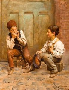 Karl_Witkowski_-_Shoeshine_Boys,_1889
