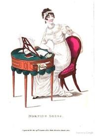 Regency lady at worktable