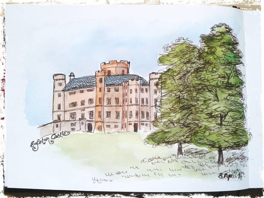 Eglinton Castle in the early 19th century