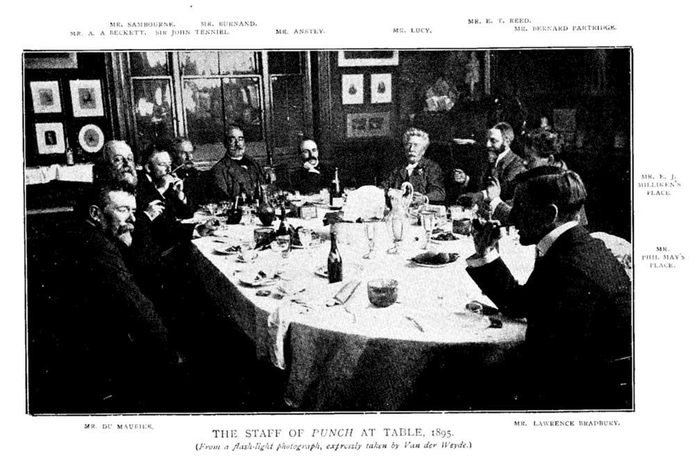 Punch Dinner in 1895