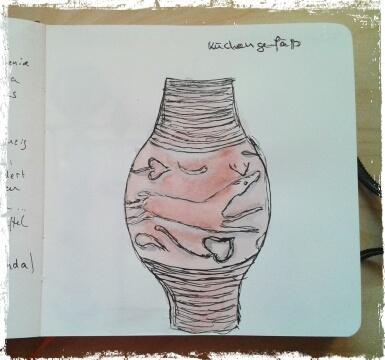 a sketch of a small Roman vessel