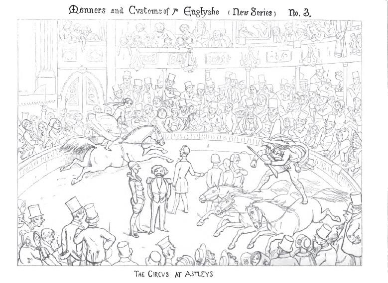 A cartoon of Astley's by Richard Doyle