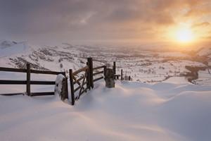winter landscape - winter sunrise