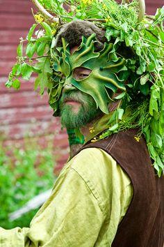 Druid at the 21 annual May Day Fairie Festival;, Spoutwood Farm, Glen Rock, PA