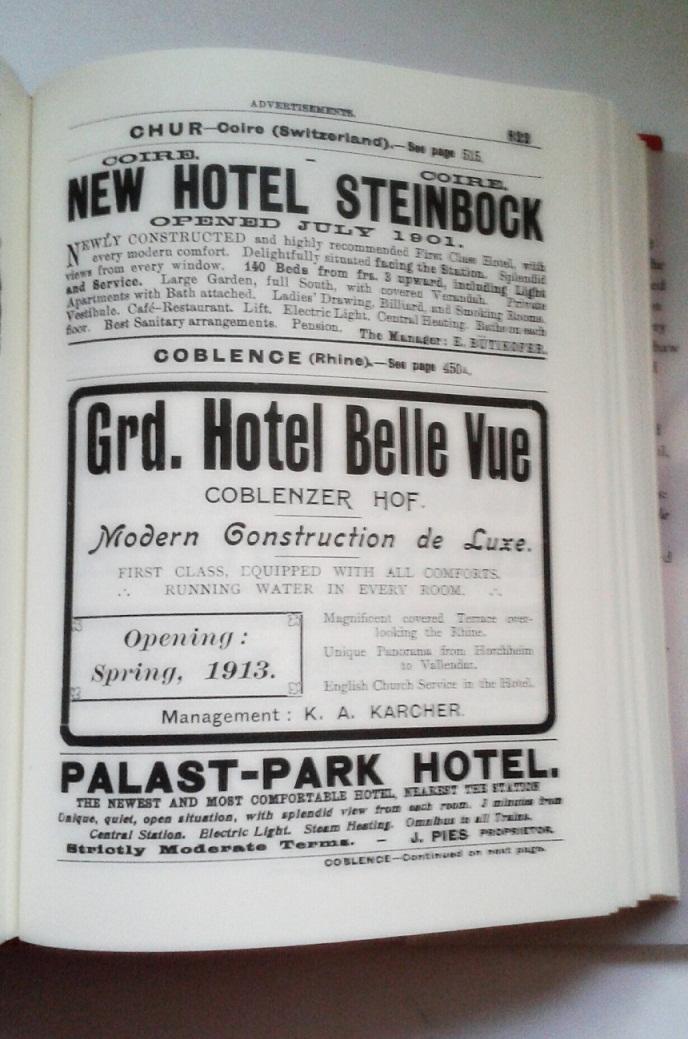 ad for Coblenzer Hof in 1913 guidebook