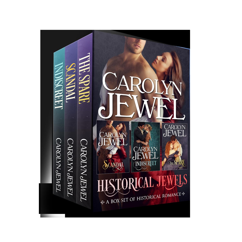 Fancy 3-D cover for Historical Jewels, 3 Regency Romances