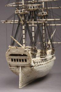 POW bone work ship model-2