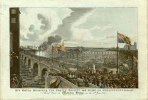 Prince & Duke at Waterloo Bridge 1817