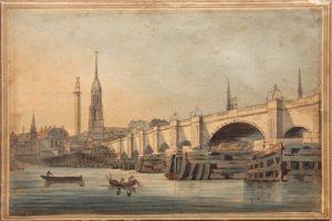 Watercolour1799 Old London bridge