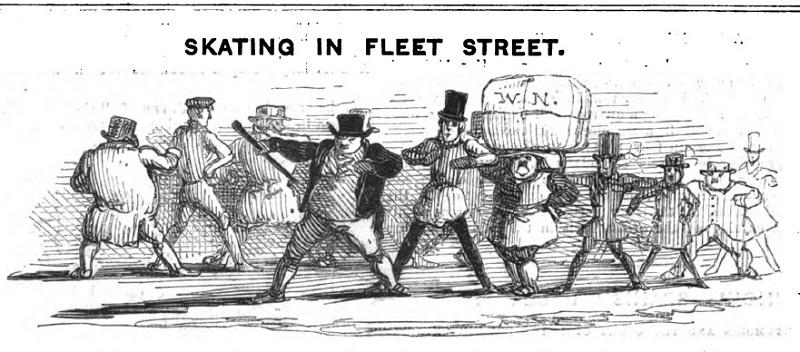 Skating in Fleet Street